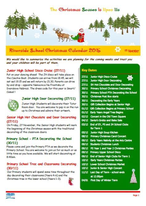 christmas newsletter riverside international school in