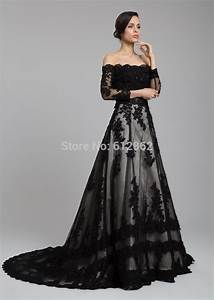 black dress with long train dress on sale With black long dresses for wedding