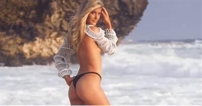 Bouchard Genie Topless Maxim Tennis Illustrated Shoot