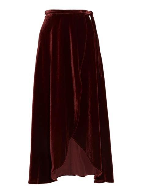 louise reformation jupe longue 224 fente taille haute en velours bordeaux prix