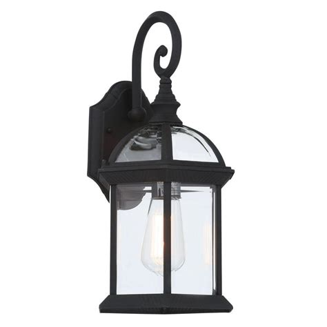 bel air lighting wall mount 1 light outdoor black coach lantern with clear glass 4181 bk the
