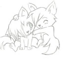 Easy Love Drawings in Pencil Wolf