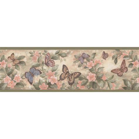 wallpaper borders brewster pastel butterflies wallpaper border sle 137b38634sam the home depot