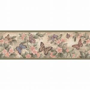 Brewster Pastel Butterflies Wallpaper Border Sample ...