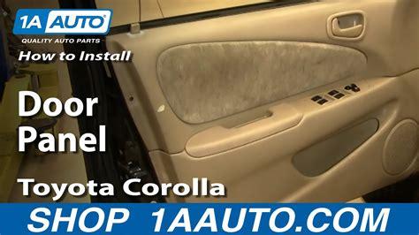 install replace  door panel toyota corolla