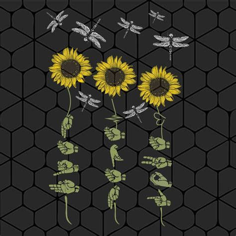 Select the number of palettes for your output vector file. Faith Hope Love sign hand sunflower dragonfly SVG Files ...