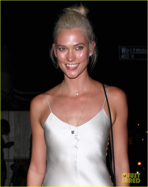 Karlie Kloss Parties Chic Silver Dress Weho Photo