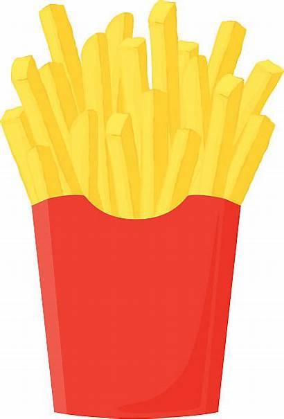 Fries French Clipart Pommes Vector Clip Burger
