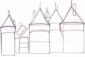 How to Draw a Medieval Castle | Medieval Castle and Castles
