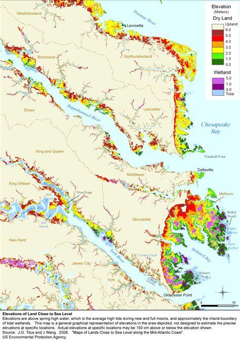 sea level rise planning maps likelihood  shore