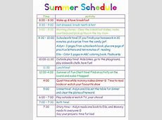 Giving kids a schedule for playtime, chores and summer