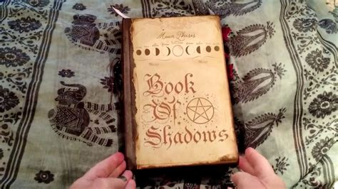 witchs grimoire wiccan book  shadows flip