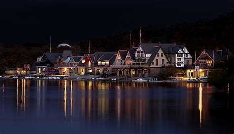 Boathouse Row by Boathouse Row Philadelphia At Daybreak
