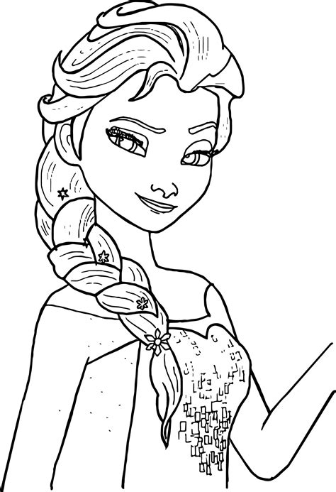 Free Printable Elsa Coloring Pages For Kids Best