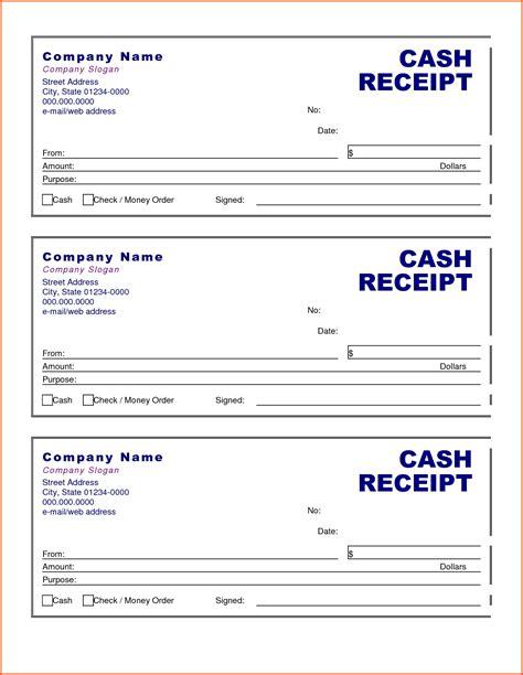 cash receipt template  doliquid