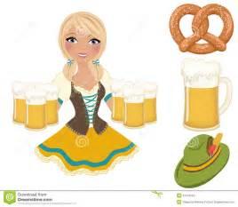 German Oktoberfest Beer Girl Clip Art