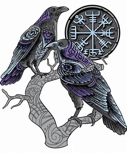 Tattoo Odin Viking Ravens Norse Celtic Muninn