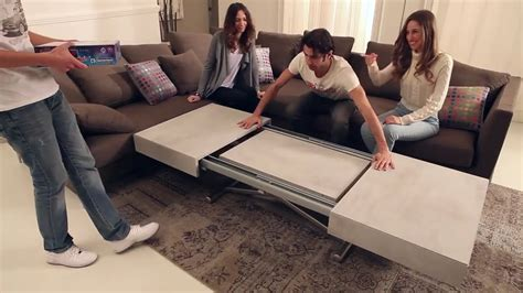 table basse extensible relavable cover by easyline square deco