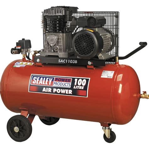 sealey sac1103b air compressor 100 litre 240v motoringdeals