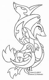 Pokemon Coloring Pages Starter Snivy Starters Lineart Deviantart Kanto Colouring Orca Draw Template Printable Och Sheet Getcolorings Colour Getdrawings Step sketch template
