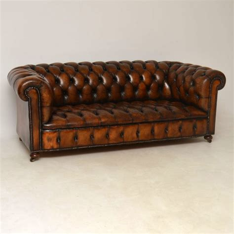 Chesterfield Leather Sofa Sale by Buttoned Leather Chesterfield Sofa C 1930 La87242