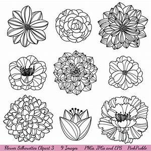 Flower Silhouettes 3 Clipart Clip Art Flower Clip Art Clipart