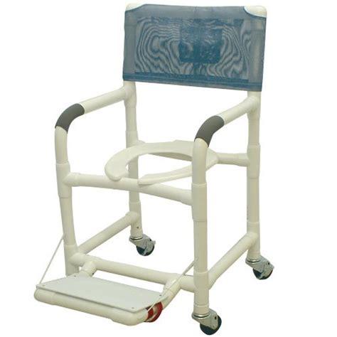 18 pvc shower chair w folding footrest 3 x 1 1 4 heavy