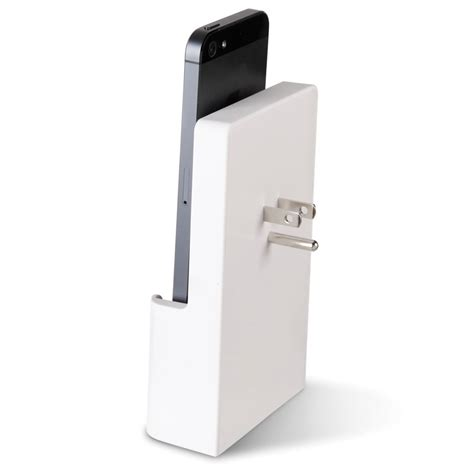 iphone 5 charger the iphone 5 outlet charging dock hammacher schlemmer