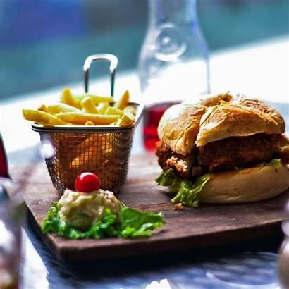 Burger Fries Hamburger French Bun Vegetables Proveg