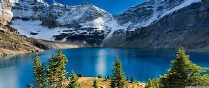 Nature Landscape Lake Mountain 1440 3440 Background