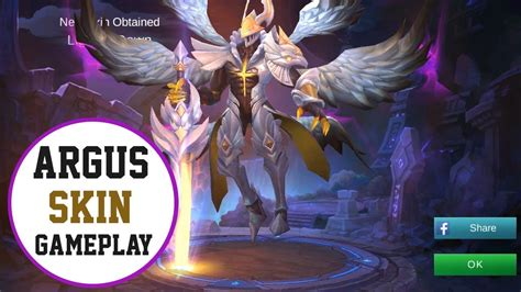 Argus New Skin Gameplay (light Of Dawn) Mobile Legends