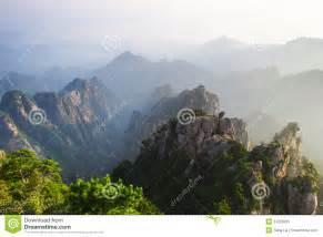 Huangshan Mountain Range China Map