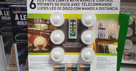 capstone led puck lights 6 pack costco weekender