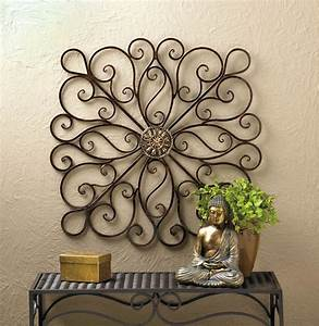 Wrought iron scrollwork wall decor tall new