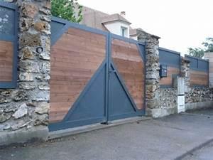 Portail Bois 4m : pitea portail aluminium et bois europortail ~ Premium-room.com Idées de Décoration