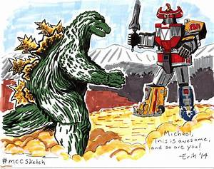 Godzilla vs. Megazord by IllustratorErik on DeviantArt