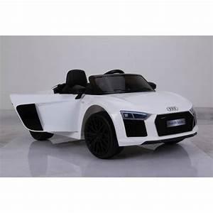 Voiture Electrique Bebe Audi : voiture lectrique pour enfant audi r8 spyder rs blanche ~ Dallasstarsshop.com Idées de Décoration