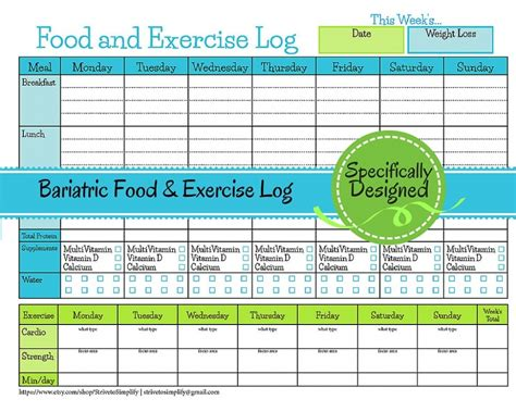 Food And Exercise Diary Template by Daily Exercise And Diet Log Food And Exercise Diary