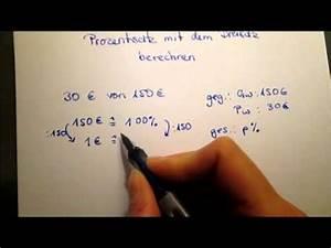 Dreisatz Berechnen : prozentsatz mit dreisatz berechnen youtube ~ Themetempest.com Abrechnung