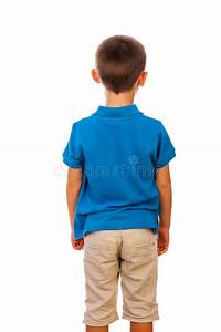 The boy standing by a back stock image. Image of harmonous ...