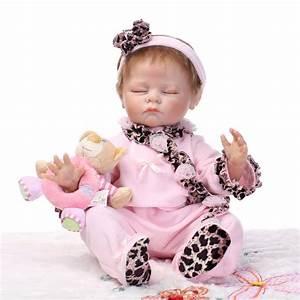 55cm silicone reborn babies babies dolls soft reborn bebe sleeping sleeping With best reborn baby dolls