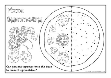pizza toppings symmetry activity black and white 361 | 2 3369