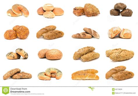 Collection Of Various Types Of Breads. Stock Photo
