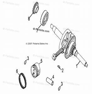 Polaris Atv 2014 Oem Parts Diagram For Engine  Crankshaft  U0026 Piston