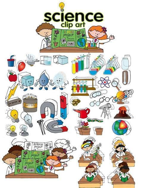 Science Clip Art Set  Clip Art, Free And School