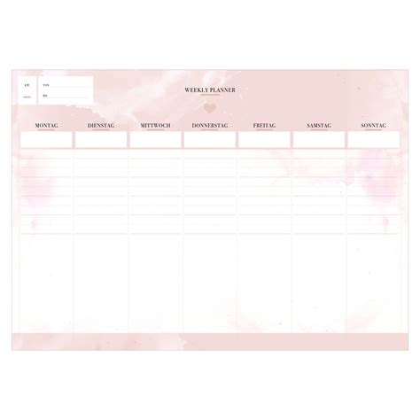 din a4 block rosa notizblock set quot weekly planner quot stay inspired