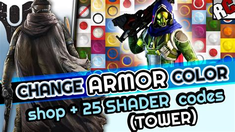 armour color codes destiny how to change armor shaders buy new armor