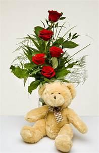 1 Rote Rose Bedeutung : zum kuscheln rote rosen mit teddy blumen kleissner graz gratis zustellung sonntag und ~ Whattoseeinmadrid.com Haus und Dekorationen