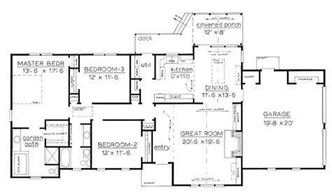 Stunning One Story Home Floor Plans by One Story Country House Plans Smalltowndjs