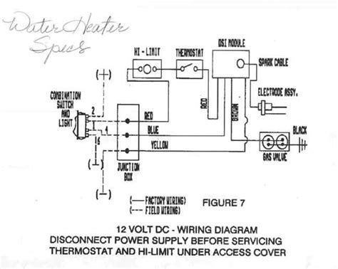 atwood rv water heater diagram atwood spark probe assembly